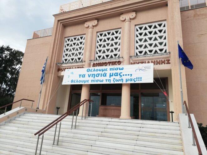 Face du théâtre Municipal depuis le 22 janvier 2020