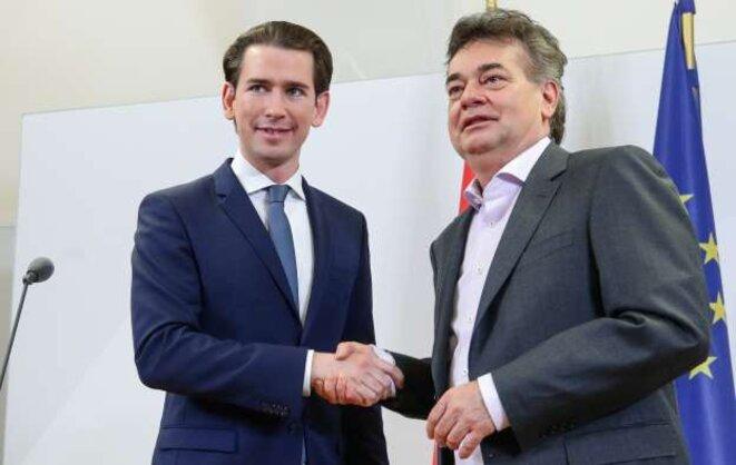 En Autriche, les leaders conservateur et écologiste se sont alliés. © Reuters