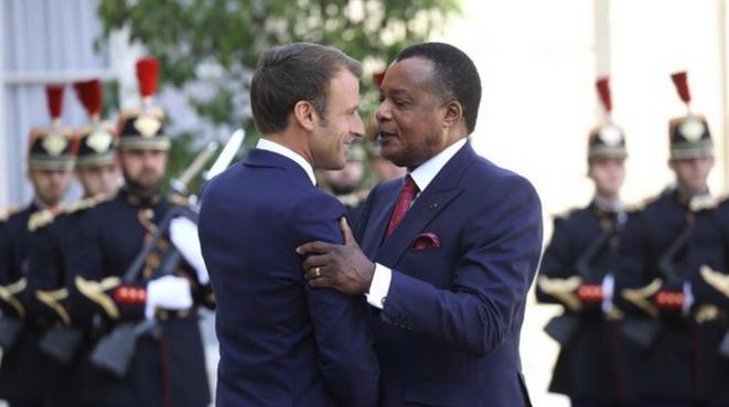 Le président Macron et son homologue congolais, le 3 septembre 2019. © Ludovic Marin / AFP
