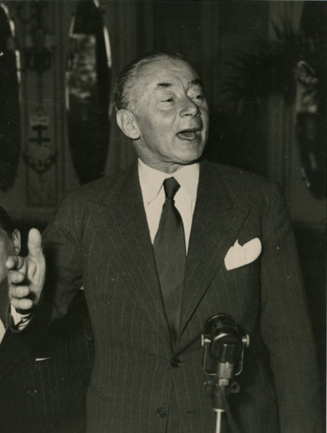 Paul Reynaud en 1948. © Wikimedia Commons, domaine public [photo recadrée]