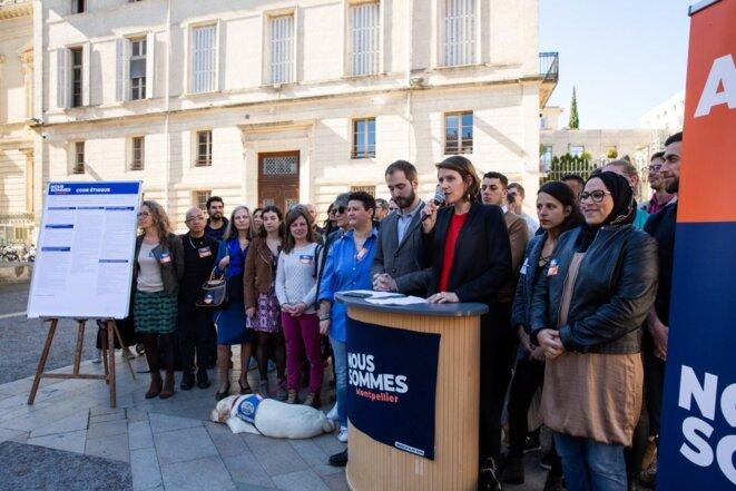 Le collectif Nous sommes en campagne à Montpellier. © David Richard