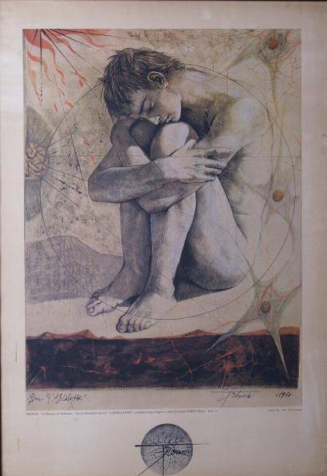 La naissance du surhomme, pour L'Apocalypse de Saint Jean, Pierre Yves Trémois1961,