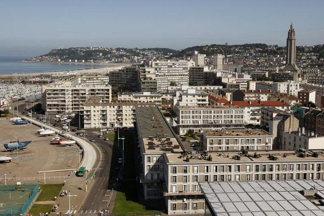 An aerial view of Le Havre from 2009. © Reuters