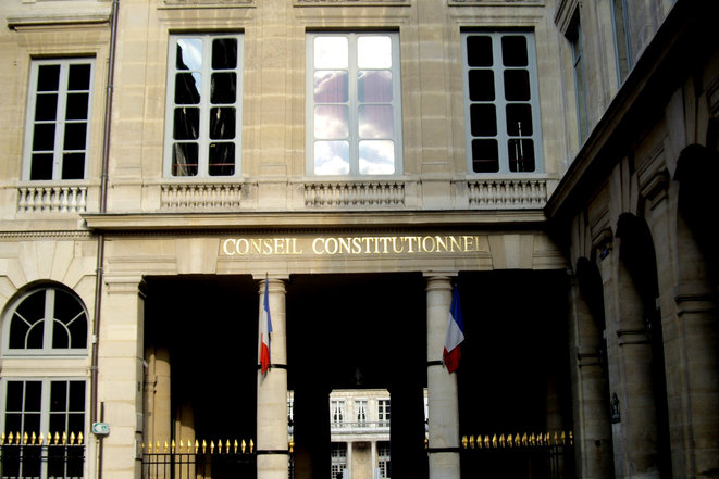 Conseil constitutionnel (Palais-Royal, rue de Montpensier, Paris Ier). © Wikimedia Commons/«Mu», licence CC-BY-SA 3.0