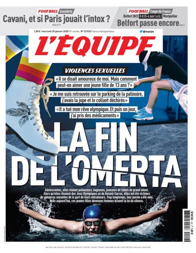 """""""L'Equipe"""", 29.01.2020."""