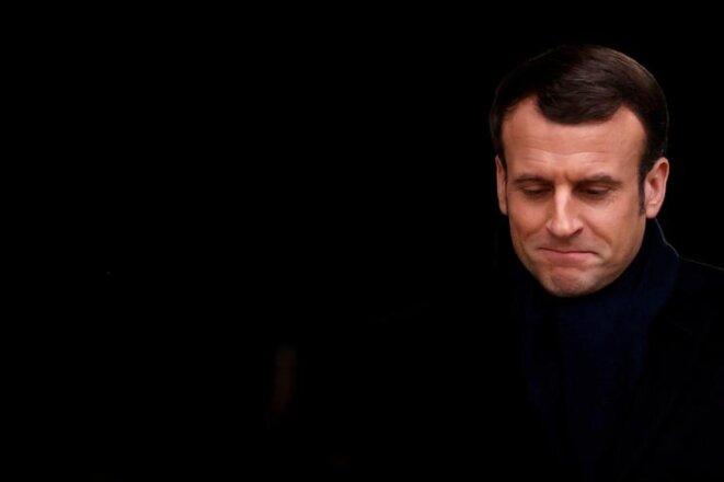 Emmanuel Macron le 28 février. © Reuters