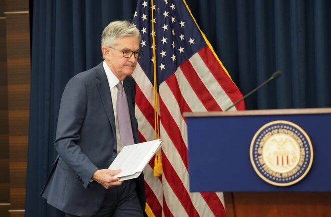 Le président de la Fed, Jerome Powell, le 3 mars. © Reuters