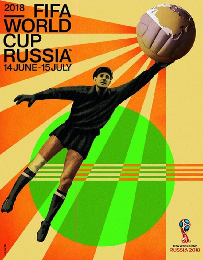 Affiche de la Coupe du monde (2018) mettant en scène Lev Yachine | © FIFA