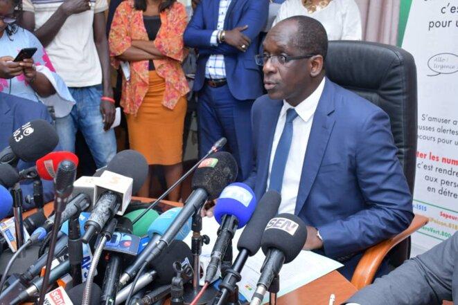 Conférence de presse du Ministre de la Santé sur le premier cas de COVID19 au