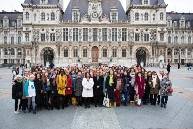 Candidates de la liste L'Ecologie pour Paris pour les élections municipales des 15 et 22 mars 2020