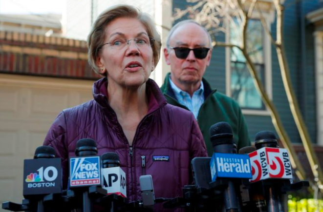 Elizabeth Warren, ce 5 janvier, à Cambridge (Massachusetts). © Reuters