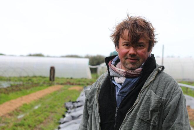 Erwan Leclerq, maraîcher depuis trois ans à Groix. © MG
