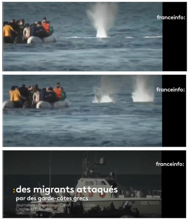 Des migrants attaqués par les garde-côtes grecs © Pierre-Louis Caron