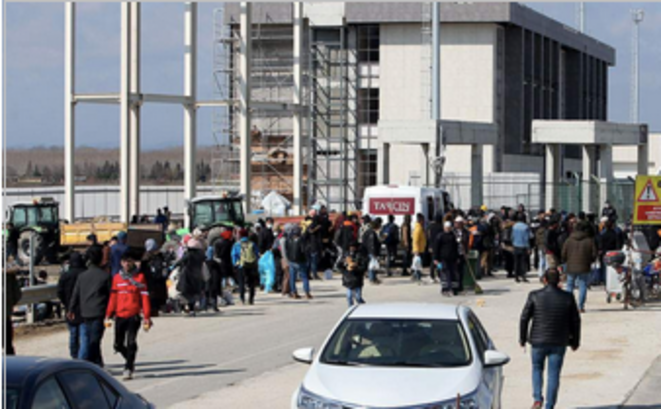Le poste frontière d'Ipsala le 2 mars 2020