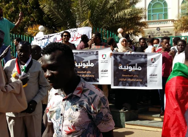 Manifestation du 11 février 2020 devant les bureaux du premier ministre organisée par les comités de résistance. © GL