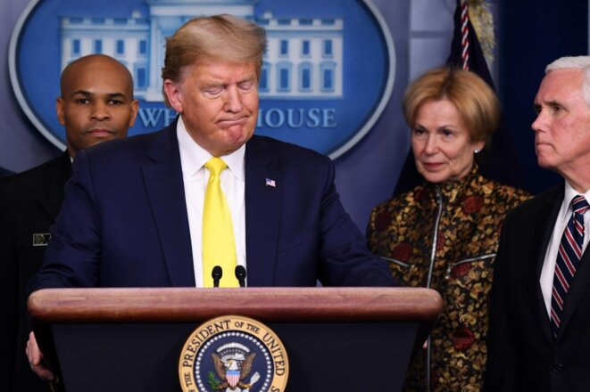 Donald Trump à la Maison Blanche le 9 mars 2020. © Saul Loeb/AFP