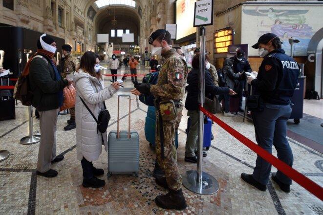À la gare centrale de Milan le 9 mars 2010. © Pier Marco Tacca/ANADOLU AGENCY