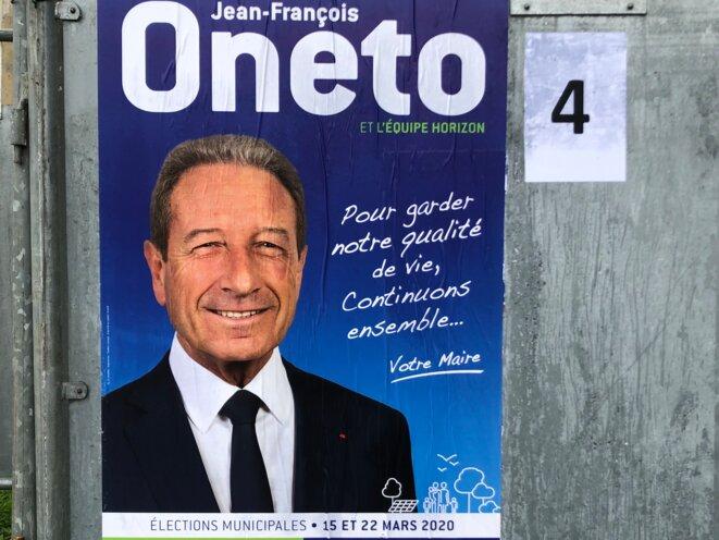 L'affiche de campagne de Jean-François Oneto. © DR