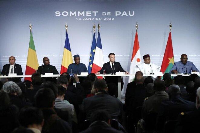 Au sommet de Pau en janvier 2020. © Guillaume Horcajuelo/Pool via REUTERS