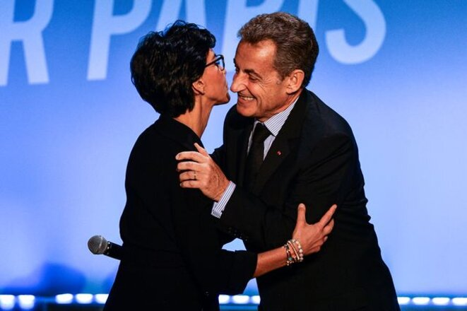 Rachida Dati and Nicolas Sarkozy, March 9th. © AFP