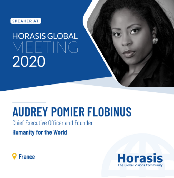 Dr.h.c Audrey POMIER FLOBINUS speaker at Global Meeting Horasis © Horasis