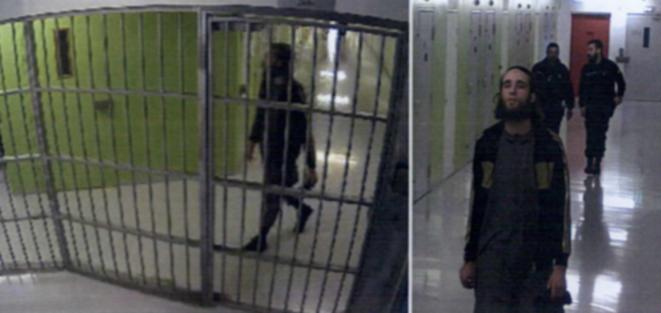 Michael Chiolo, quelques instants avant qu'il poignarde deux surveillants de la prison de Condé-sur-Sarthe lors de ce qui constitue le second attentat djihadiste dans une prison française. © DR