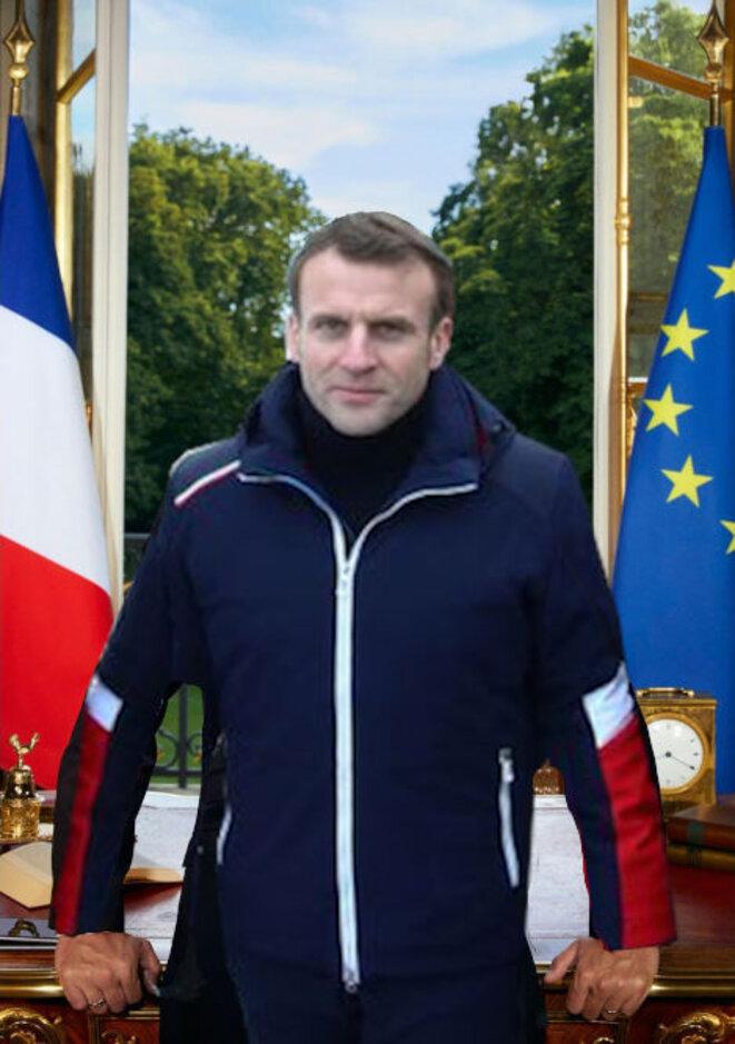 Le futur portrait officiel de la deuxième partie du mandat d'Emmanuel Macron, dans son costume de néo-écolo ? Une imposture de plus à démasquer et à décrocher.