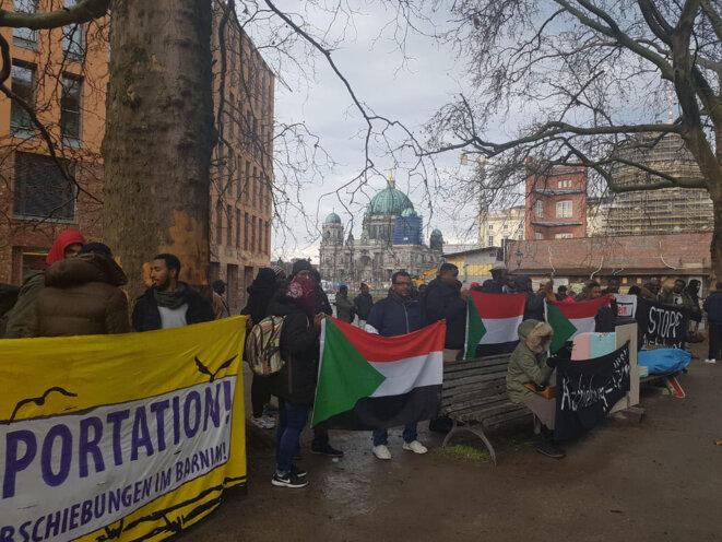 Photo de la manifestation du 9 mars à Berlin.