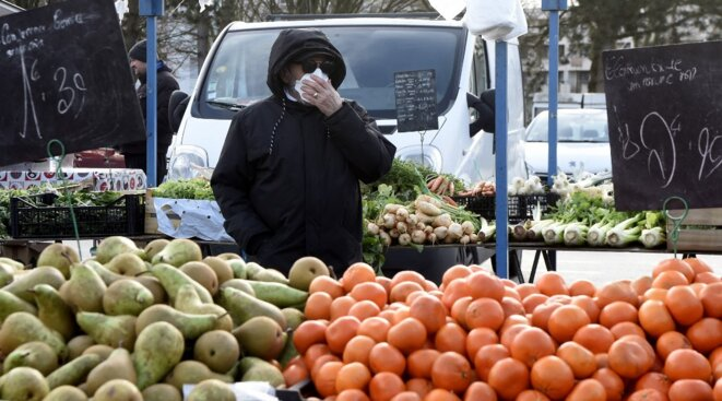 Sur le marché de Crépy-en-Valois dans l'Oise. © François Lo Presti / AFP