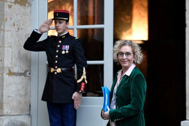 Muriel Pénicaud, le 13 février, à Matignon. © STEPHANE DE SAKUTIN / AFP