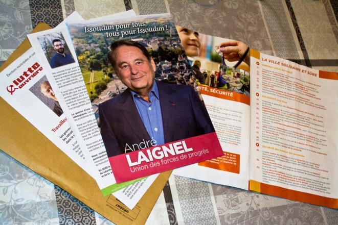 Les documents de propagande électorale officiels reçus par courrier