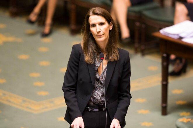 Sophie Wilmès à la Chambre, le 12 mars 2020. © AFP