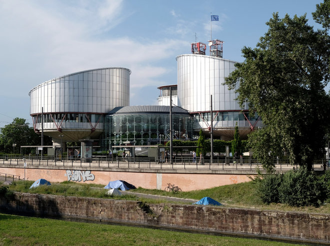 """European Court of Human Rights, Strasbourg © Photo by Krystian Woznicki. First published in """"Fugitive Belonging"""" (Diamondpaper, 2018)"""