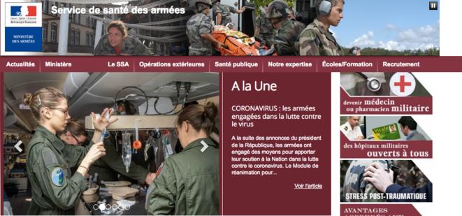 Site du Service de santé des armées.