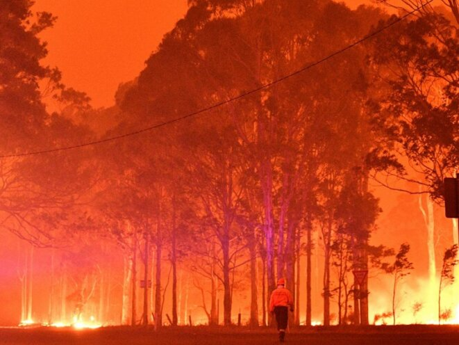 Wildfires in Australia and elsewhere are becoming increasingly common. © Saeed Khan / AFP