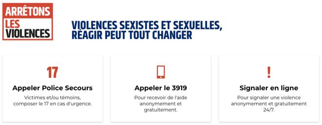La plateforme arretonslesviolences.gouv.fr