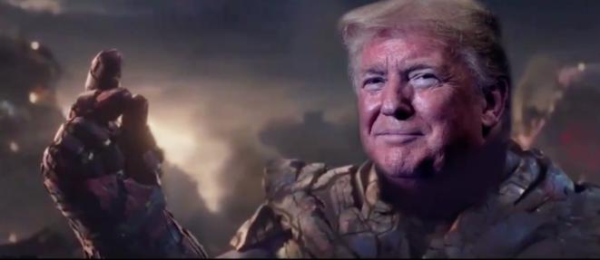 Trump como superhéroe. © Captura de pantalla/Twitter