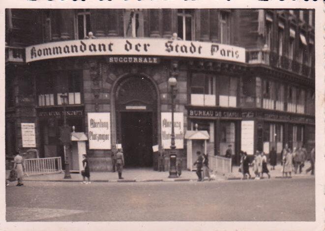 Kommandantur, Paris, place de l'Opéra 1944