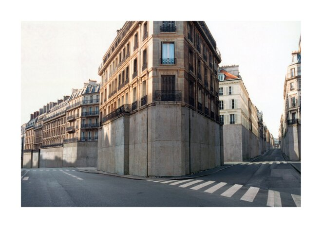 Nicolas Moulin, « Vider Paris ». Paru dans « Mouvement », avril/juin 2000. © Nicolas Moulin