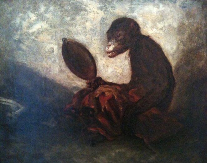 Singe au miroir, Alexandre Gabriel Decamps, 1843