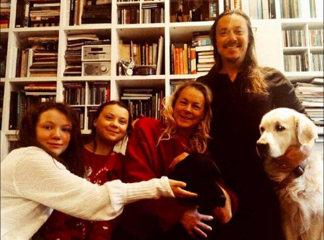 Le post Instagram de Greta pour Noël 2018 « Heureuses vacances pour ma famille et moi ! » © Photographie : mention de courtoisie Greta Thunberg via Instagram.
