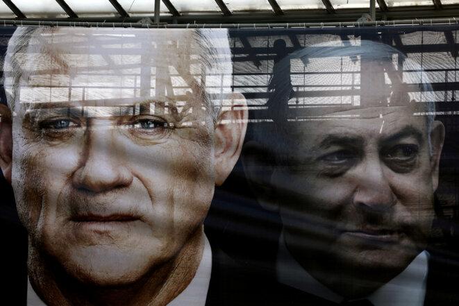 Une affiche à Tel Aviv le 17 février 2020. © REUTERS/Ammar Awad