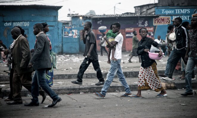 Quartier populaire de Kinshasa © Christophe Rigaud - Afrikarabia