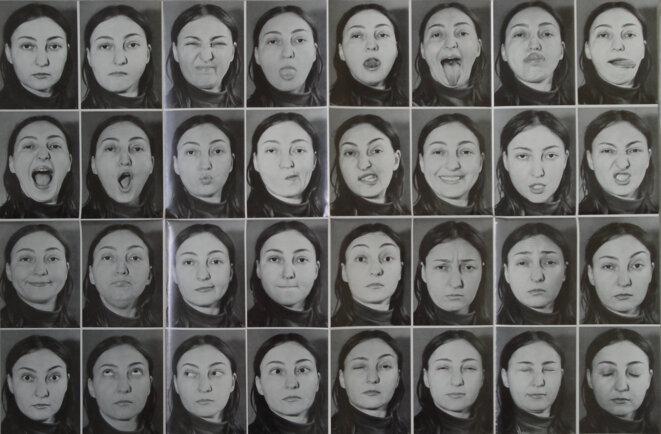 Expression 1 (A Study of Facial Motions), April 1972 © Athena Tacha