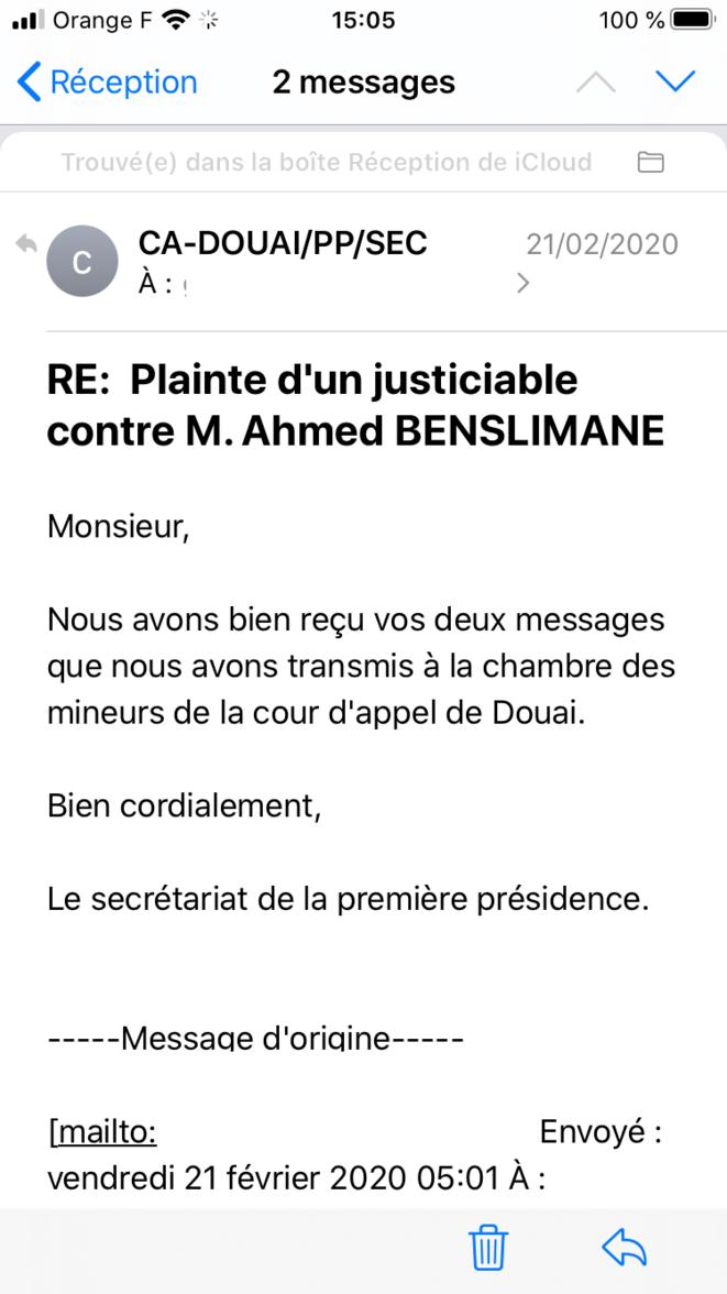Ahmed benslimane juge des enfants