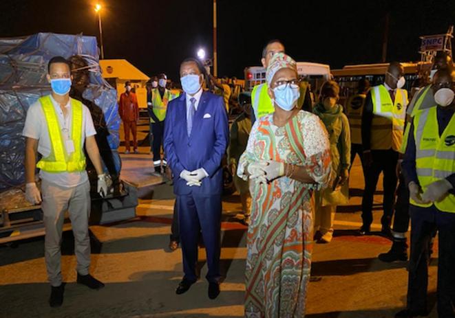Les autorités congolaise réceptionnent les dons de Jack Ma à Maya maya Brazzaville