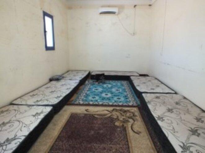 Une des chambres où sont confinés, ou emprisonnés, les Sahraouis