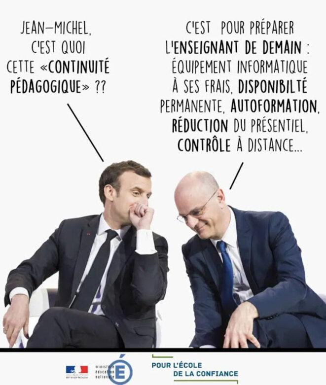 continuitc3a9-pc3a9dagogique-macron-blanquer