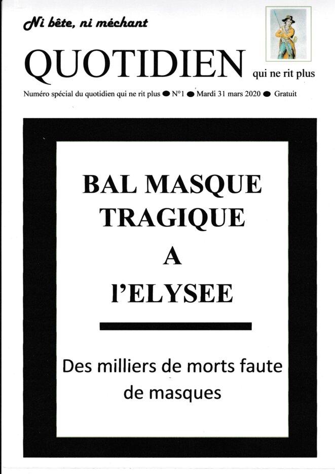 Bal masqué tragique à l'Elysée faute de masques © Christophe Lasterle