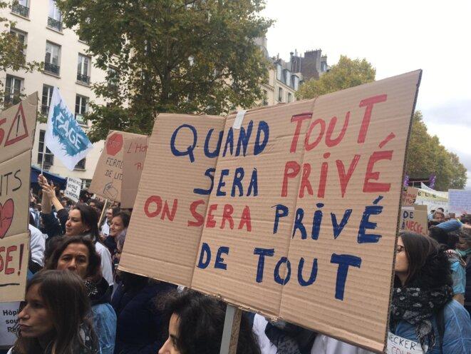 Manifestation pour l'hôpital, Paris 14 novembre 2019 © M. Bellahsen